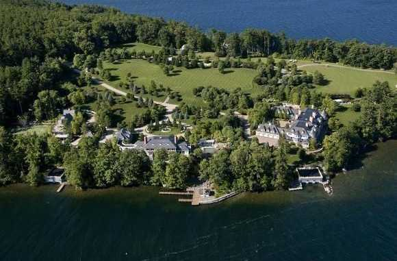 For just $25.8M you will get not one but two homes on this magnificent lake in New Hampshire.