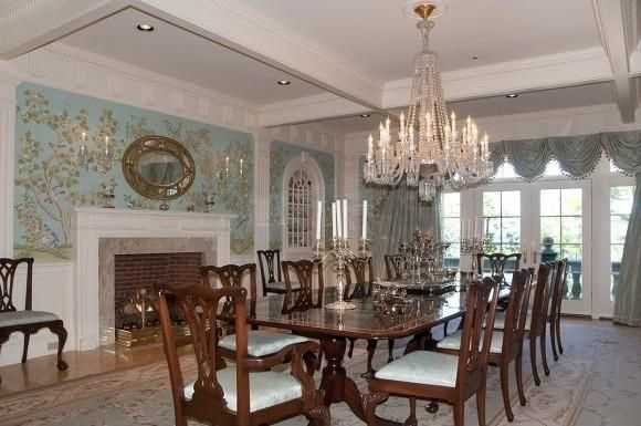 You will have much space for entertaining with multiple formal dining rooms.