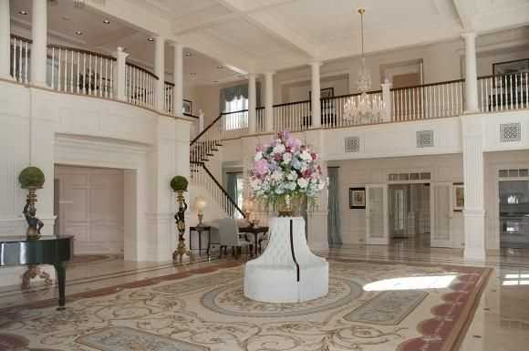 In the main home there is a double-height ballroom which is perfect for the parties you can throw in your new mansion.