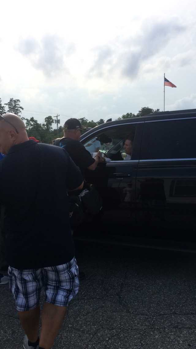 Jamie McMurray greets fans at Concord Municipal Airport