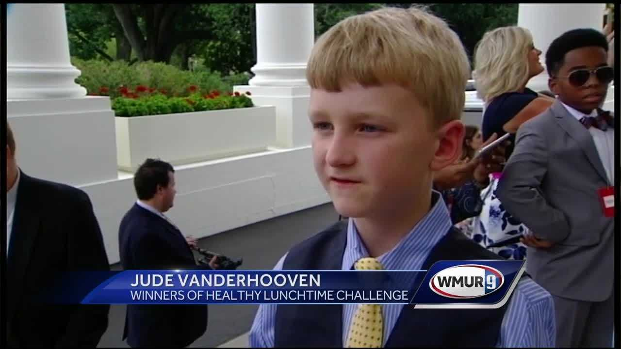 A Keene boy joined the First Lady for the annual Kids' State Dinner at the White House Thursday.