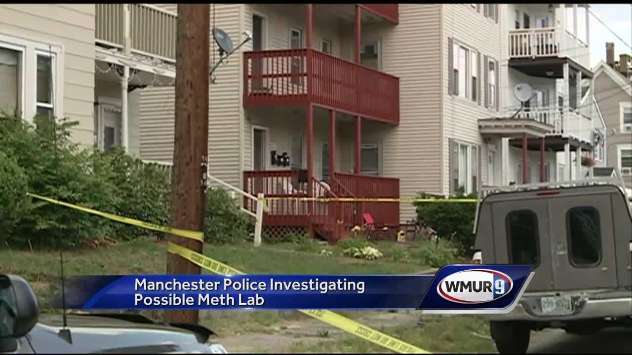 Police found ingredients consistent with a meth lab in a Manchester neighborhood.