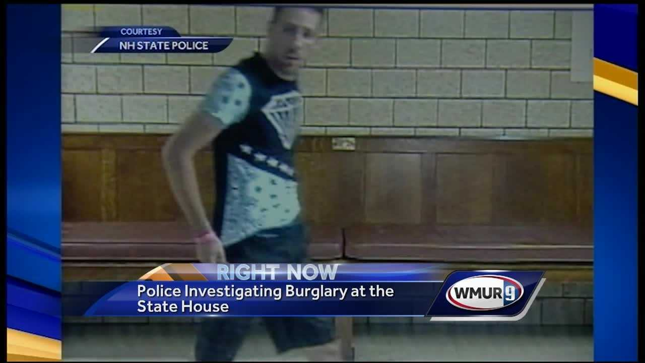Police are looking for a man who broke into the state house and vandalized several artifacts.