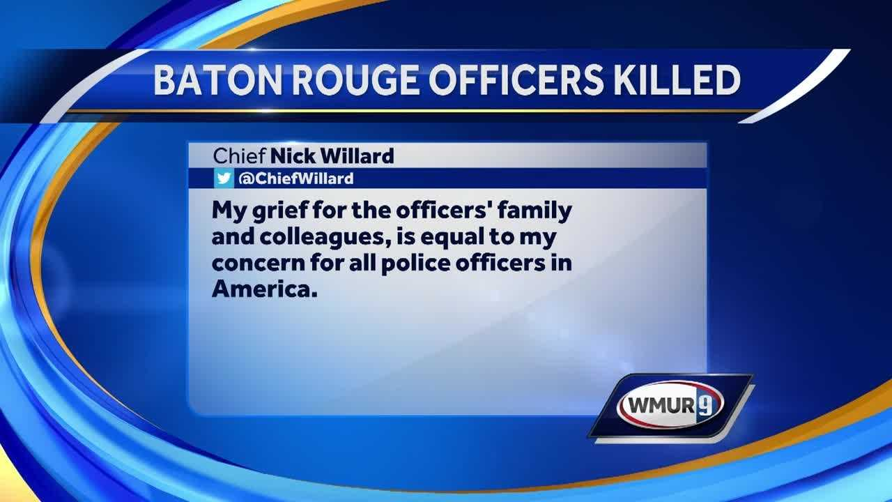 New Hampshire politicians say Americans must band together in the wake of the latest tragedy in which three police officers were killed.