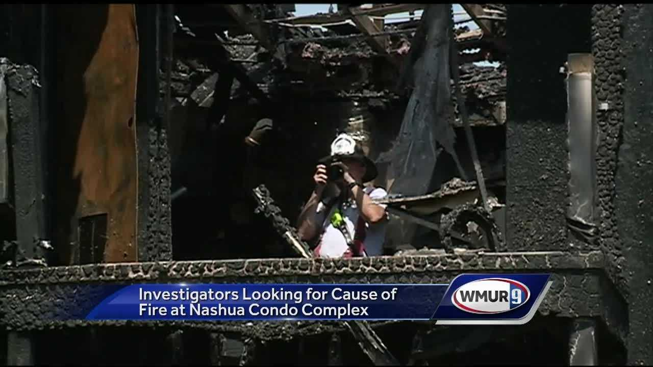 Dozens of people were displaced Sunday after a fire tore through a Nashua apartment building.