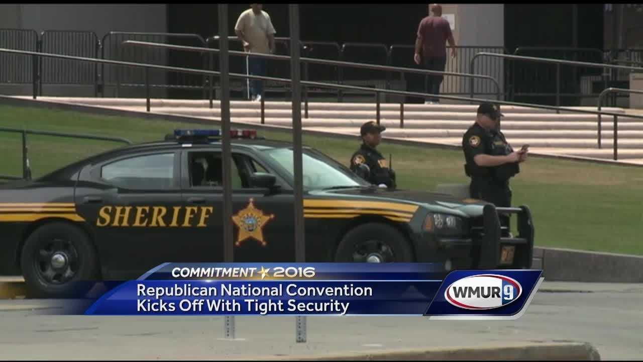 Security was a big focus Monday in Cleveland as the Republican National Convention got underway.