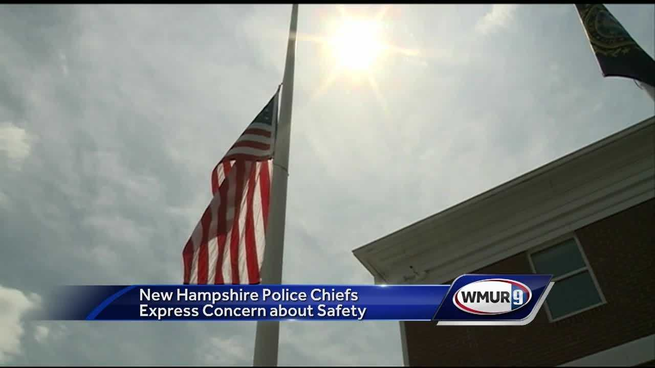 Members of law enforcement in New Hampshire expressed grief Monday for the families of officers killed in a shooting in Baton Rouge, Louisiana.