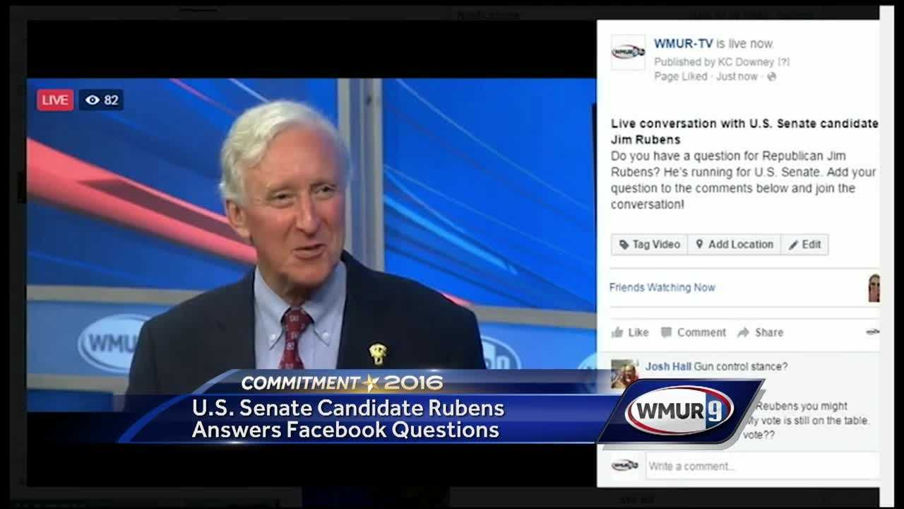 Republican U.S. Senate candidate Jim Rubens answered voters' questions on Facebook on Tuesday.