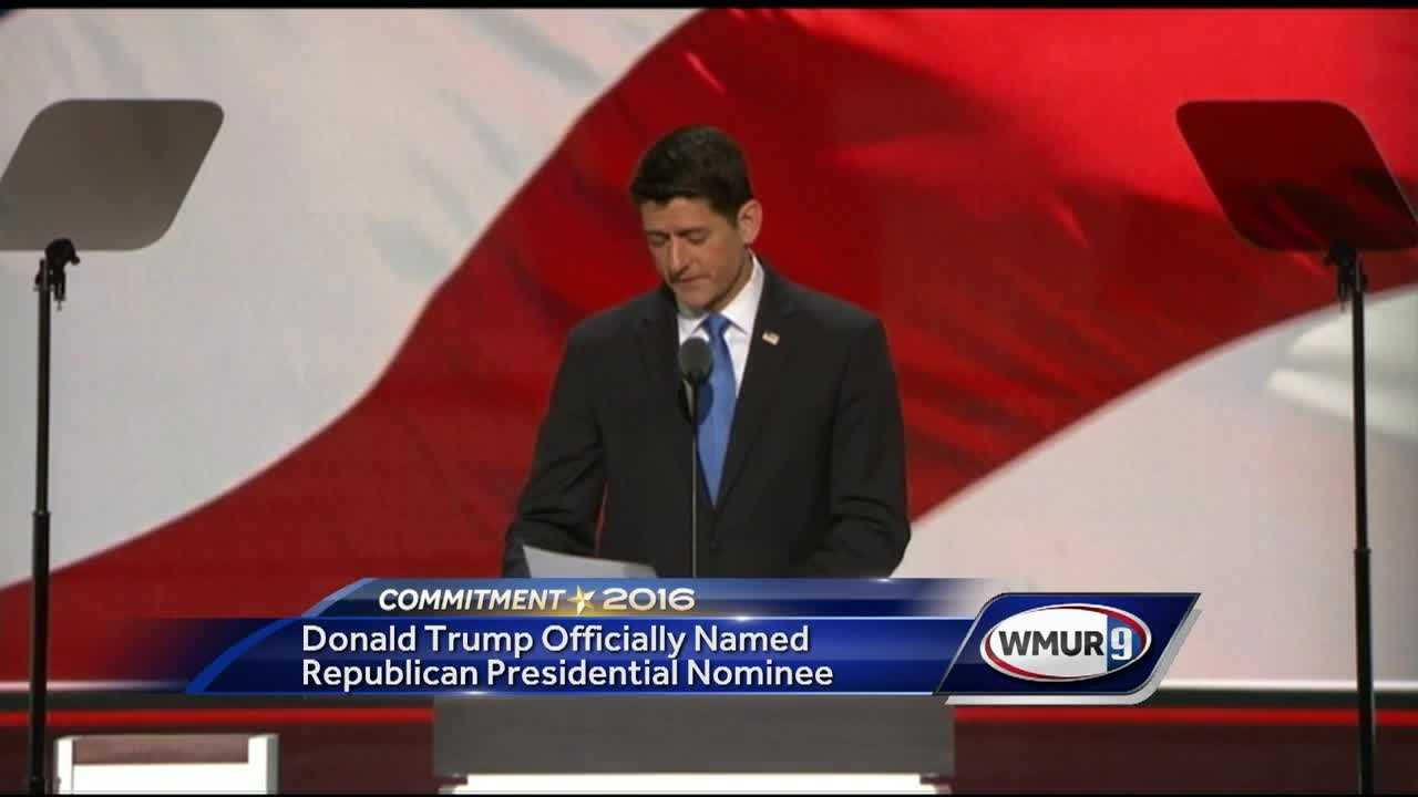 Donald Trump was named the Republican Presidential Nominee at today's Republican National Convention in Cleveland.