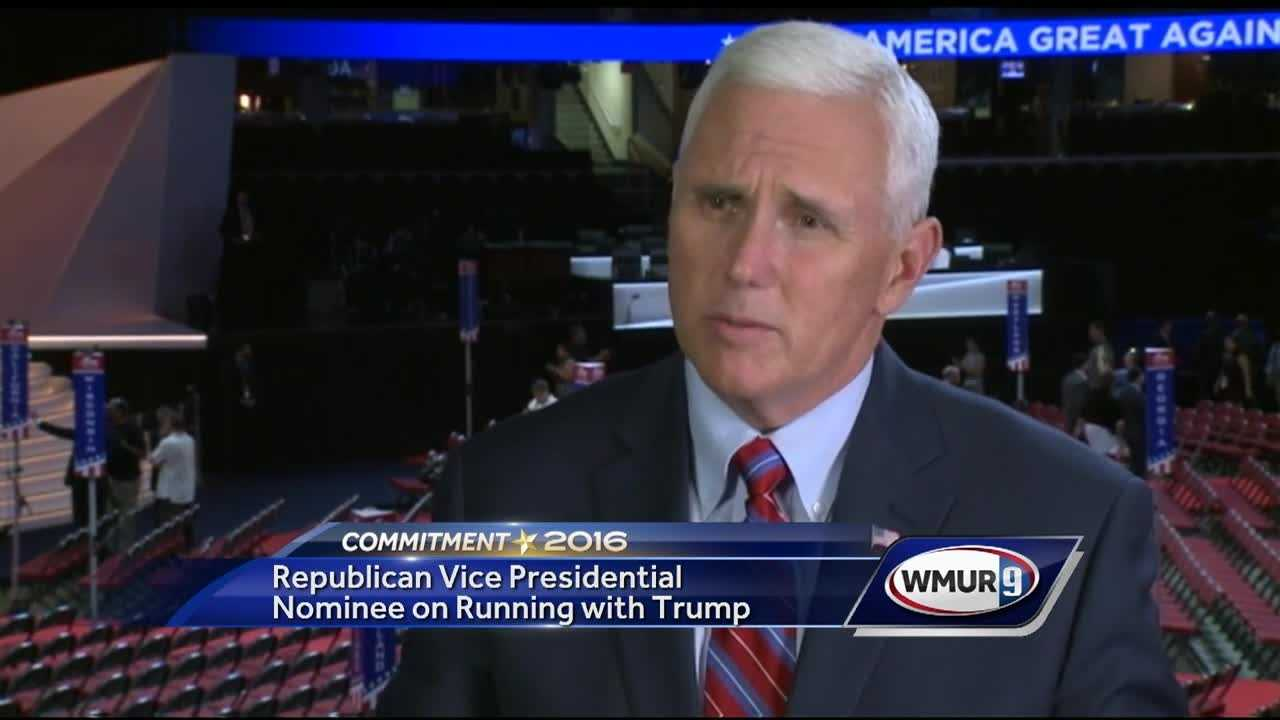 Republican vice presidential nominee Mike Pence said Thursday that he's honored to have been chosen to run with Donald Trump.