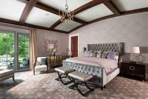 Here's a look inside the home's master bedroom.