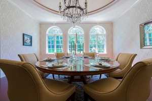 A look inside one of the home's dining rooms.