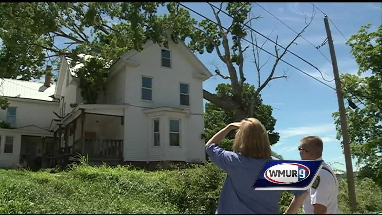 In Franklin, powerful wind gusts took down dozens of trees, resulting in a number of road closures.