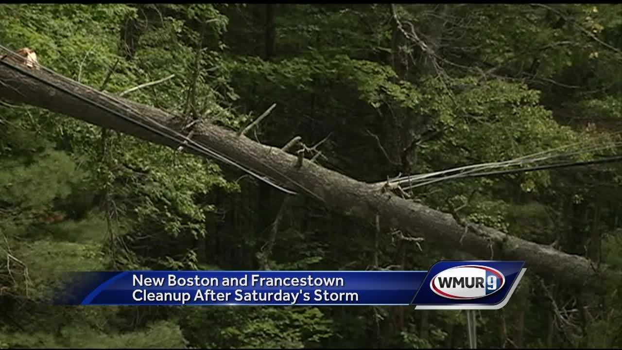 Thousands of Granite Staters are still in the dark after storms took down power lines Saturday.