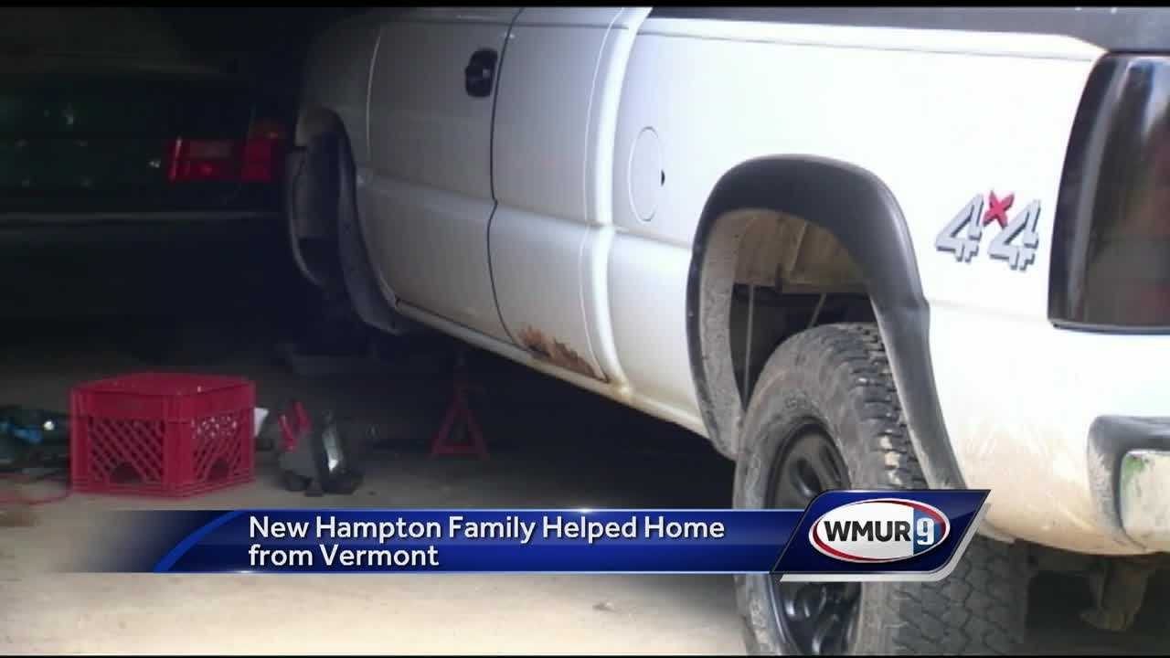 A New Hampton family is happy to be home, thanks to the help and generosity of some state troopers and a tow truck driver in Vermont.