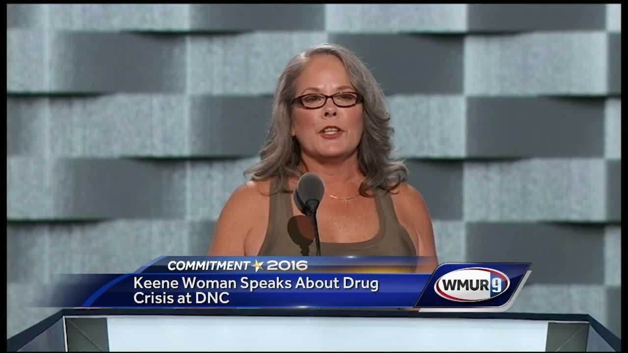 Along with First Lady Michelle Obama and former Democratic presidential candidate Bernie Sanders, a New Hampshire woman who has personal experience with the drug crisis was one of the speakers at the first night of the Democratic National Convention.