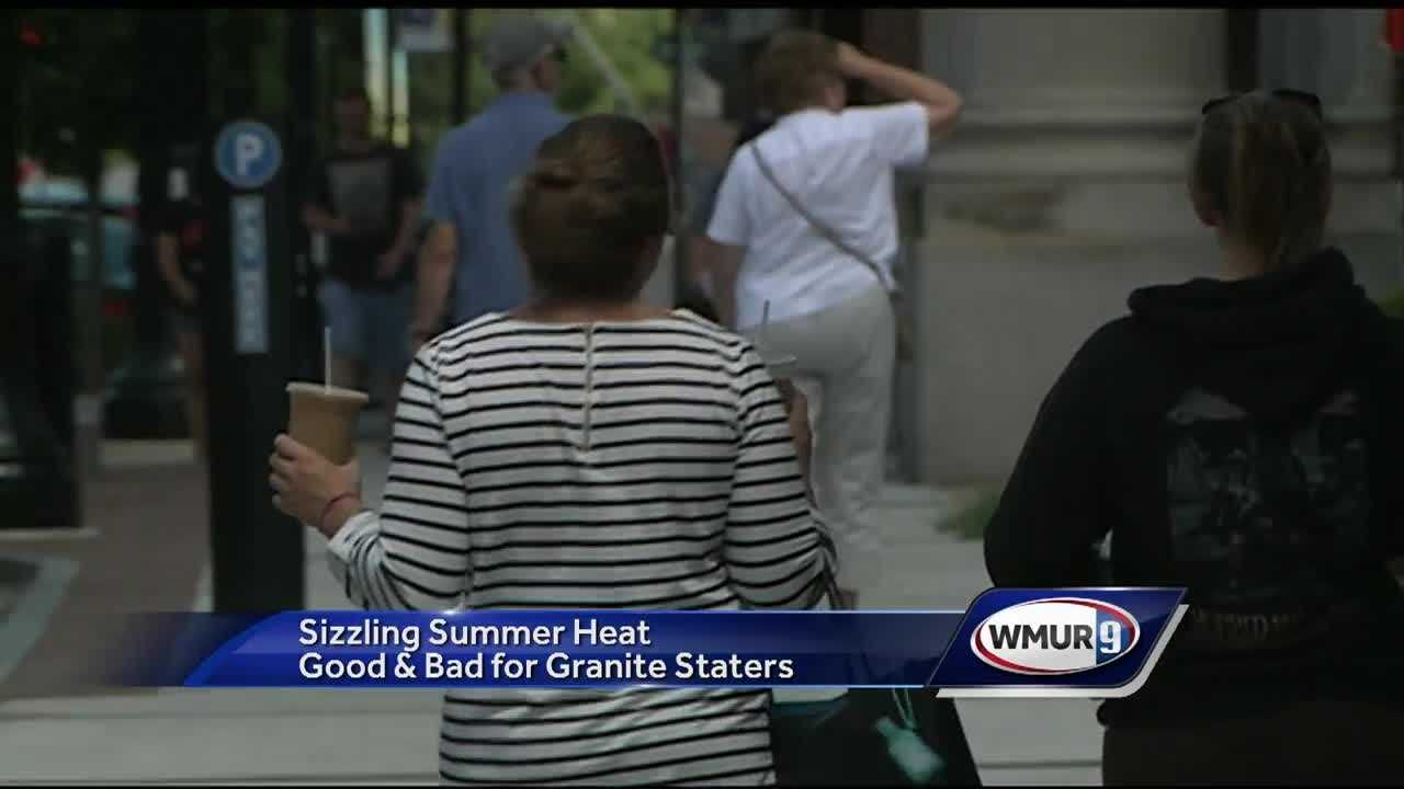 Temperatures reached the 90s for another day Tuesday in parts of New Hampshire, and Granite Staters were looking for ways to stay cool.
