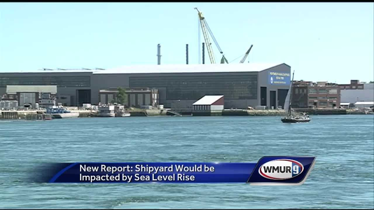 A new report is sounding the alarm on rising sea levels and analyzing the possible effect they would have on military installations such as the Portsmouth Naval Shipyard.