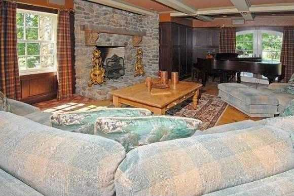 Here's a look inside the home's piano room.