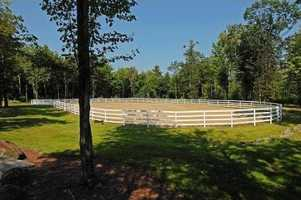 Another look at the outdoor horse riding area.