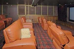 The home has a 13-seat home theater.
