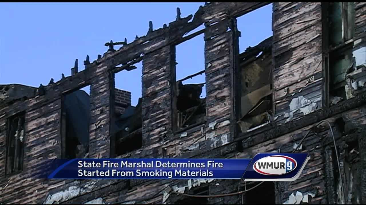 Fire officials now know that the fire which killed a family of four was started by improperly disposed smoking materials.