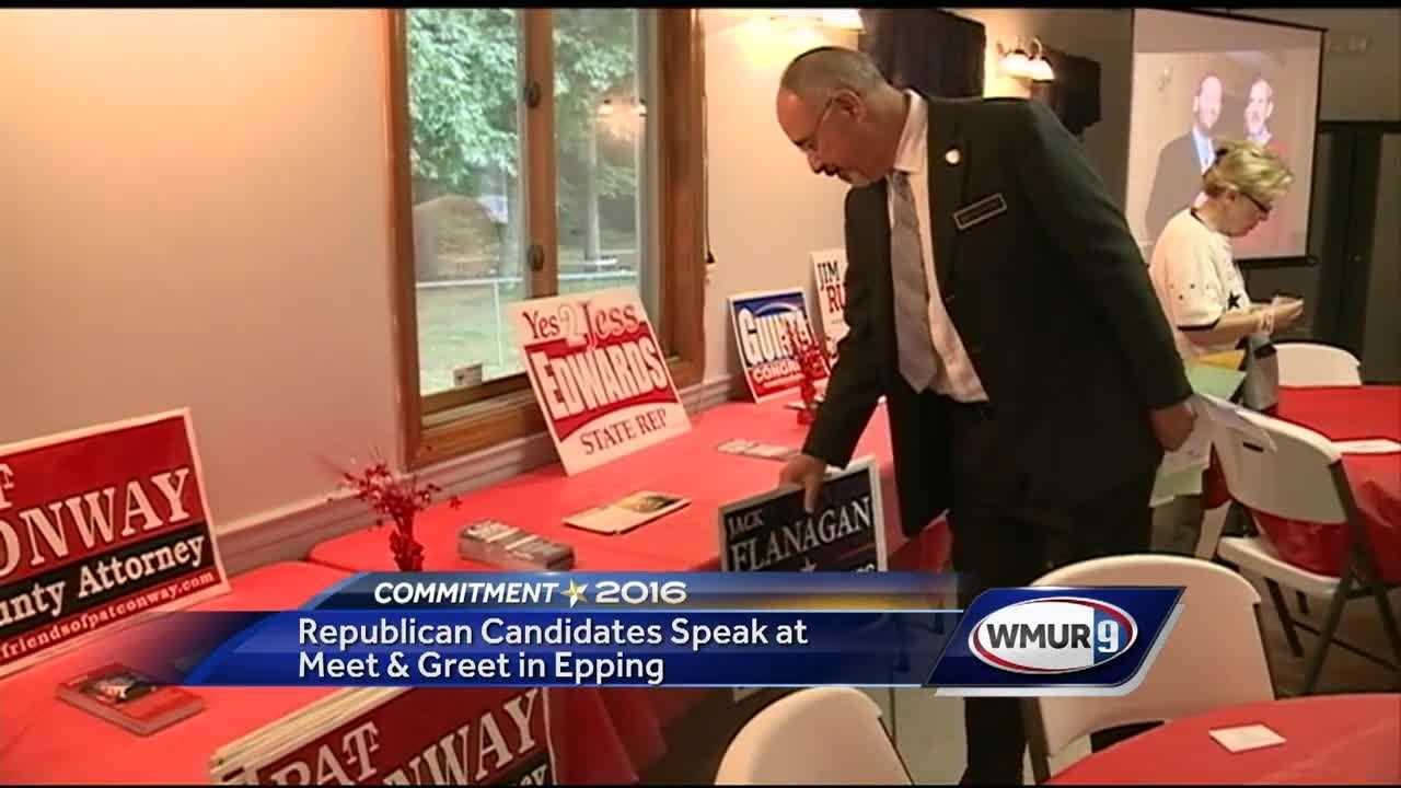 Candidates from all over the Republican ballots came out to the American Legion Hall in Epping Sunday to shake hands and meet voters.