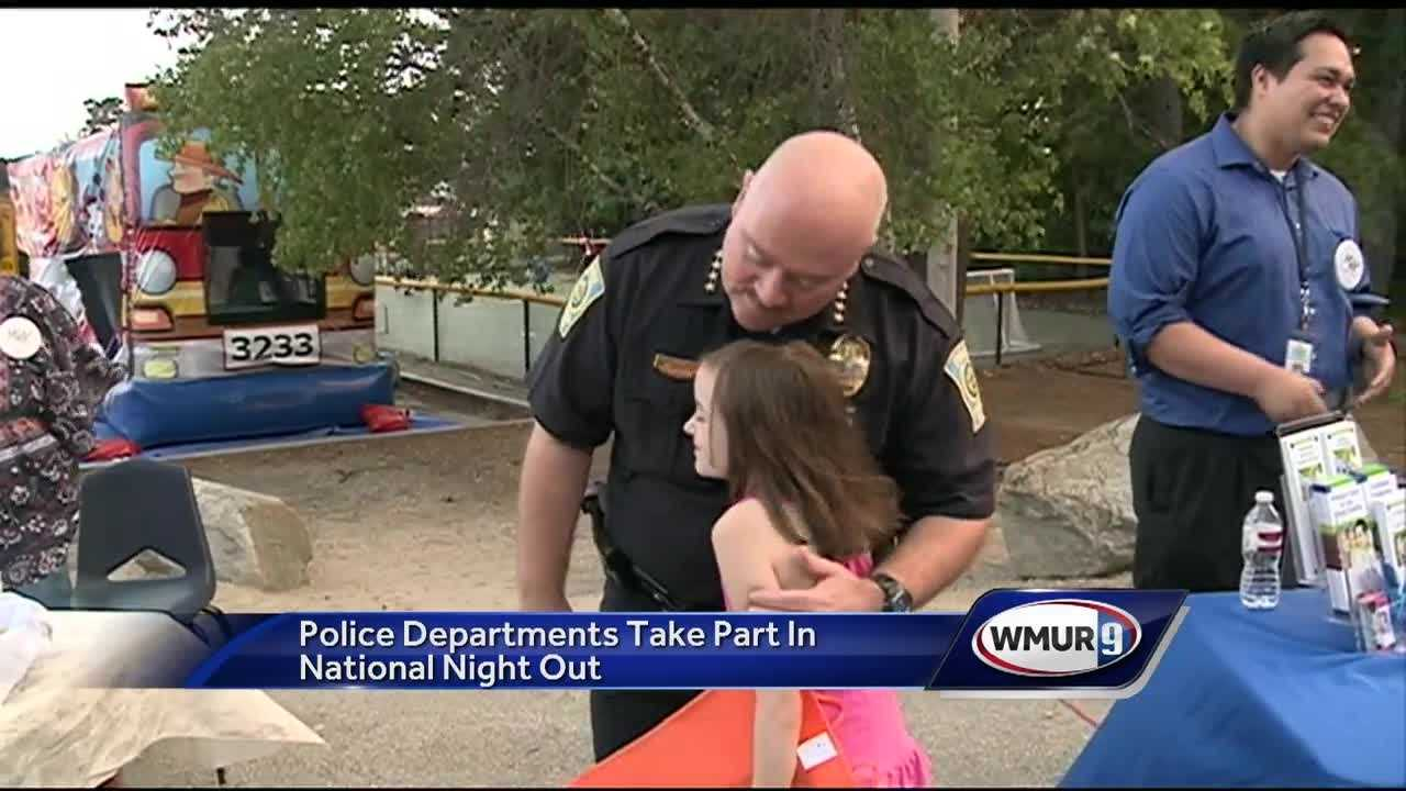 Police officers across the country joined their communities Tuesday for National Night Out.
