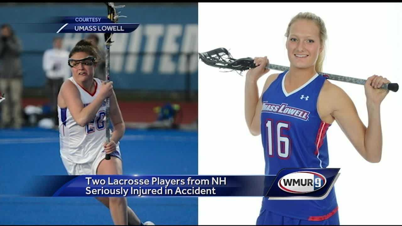 The two women's lacross players at UMass Lowell survived the crash last weekend, but one lost part of her left leg.