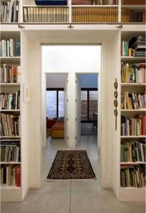 A look into the home's library.
