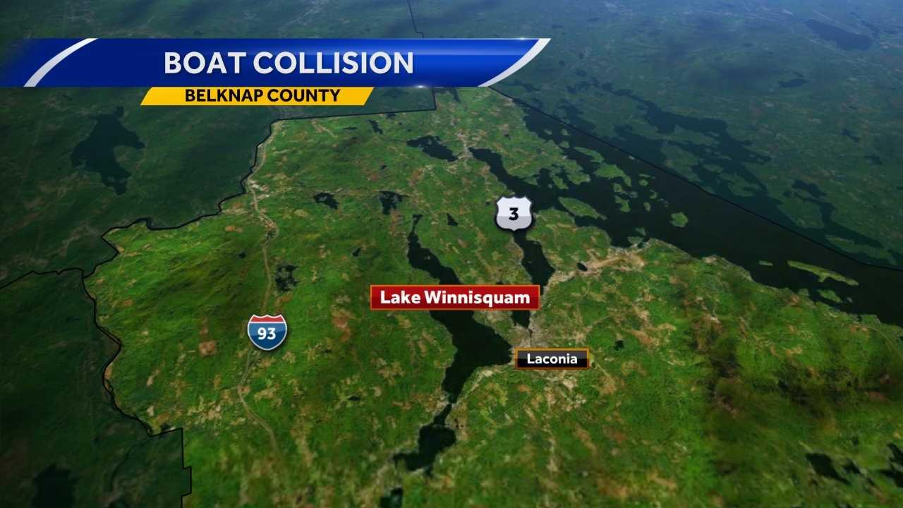 Emergency responders responded to a boating crash Friday night on Lake Winnissquam.