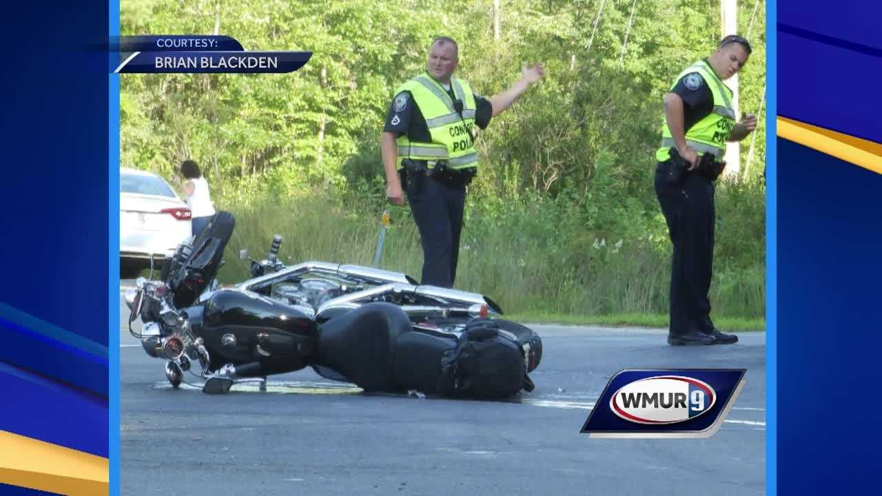 Concord police are investigating a hit and run crash involving a motorcycle.