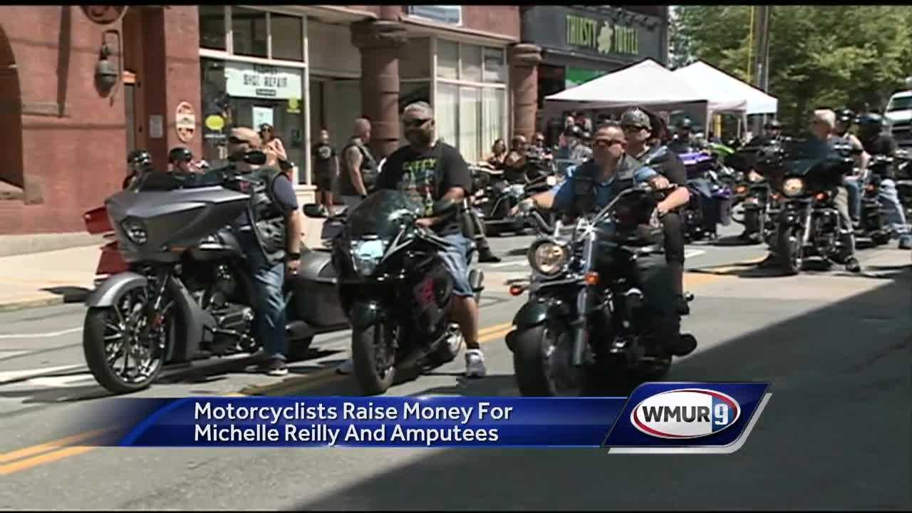 Bikers raised money Sunday for the organization 50 Legs to help people with prosthetic limbs, who need help beyond the initial purchase of their prosthesis.