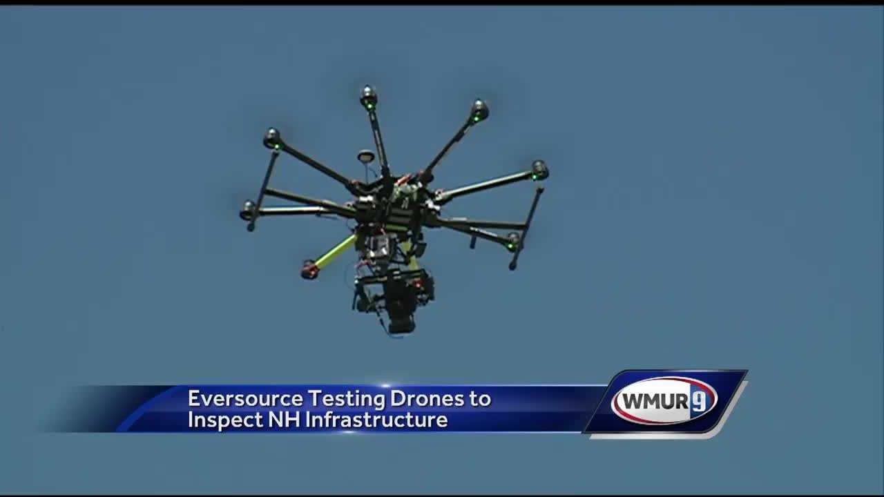 Eversource crews are testing out the use of drones to inspect power lines.