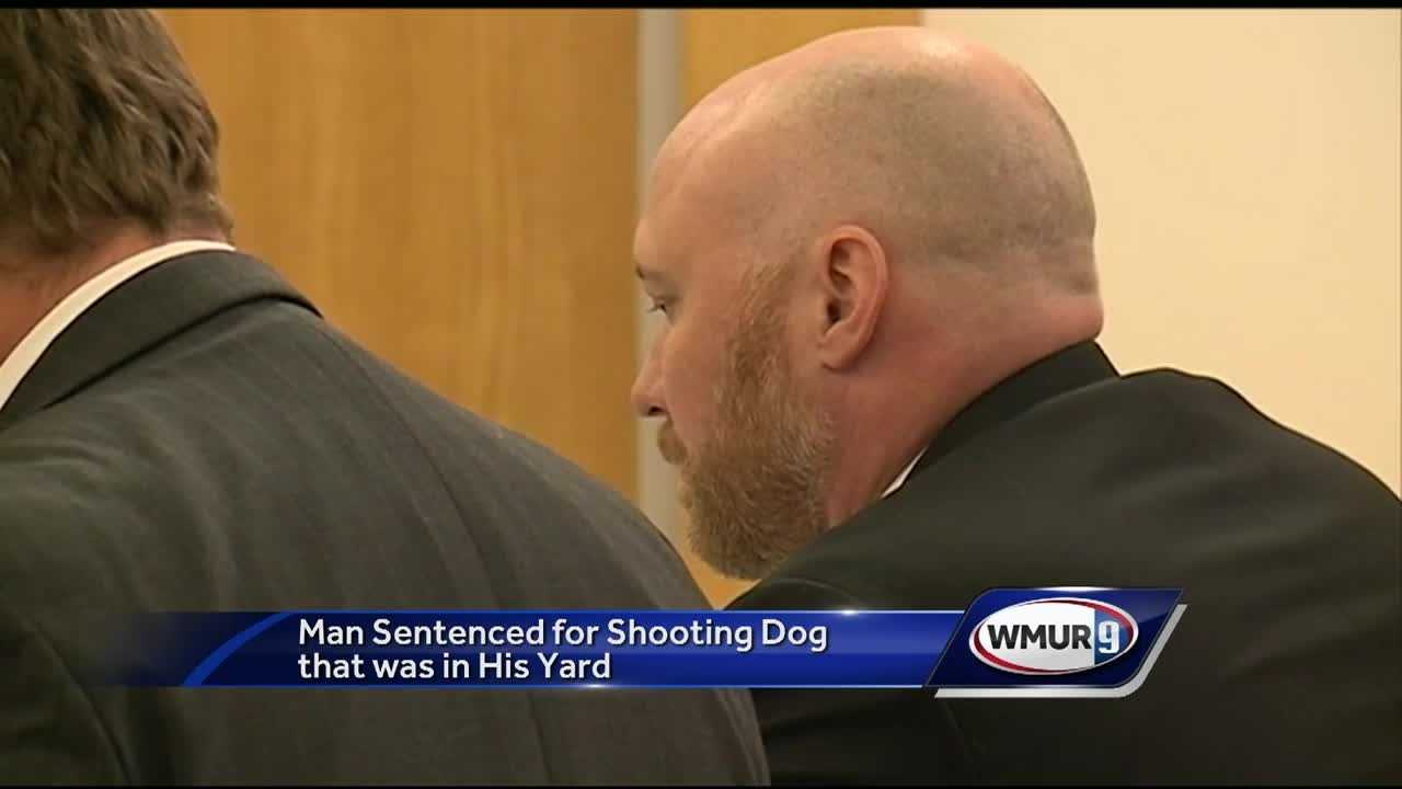 An Epping man will not go to prison for shooting his neighbor's dog.