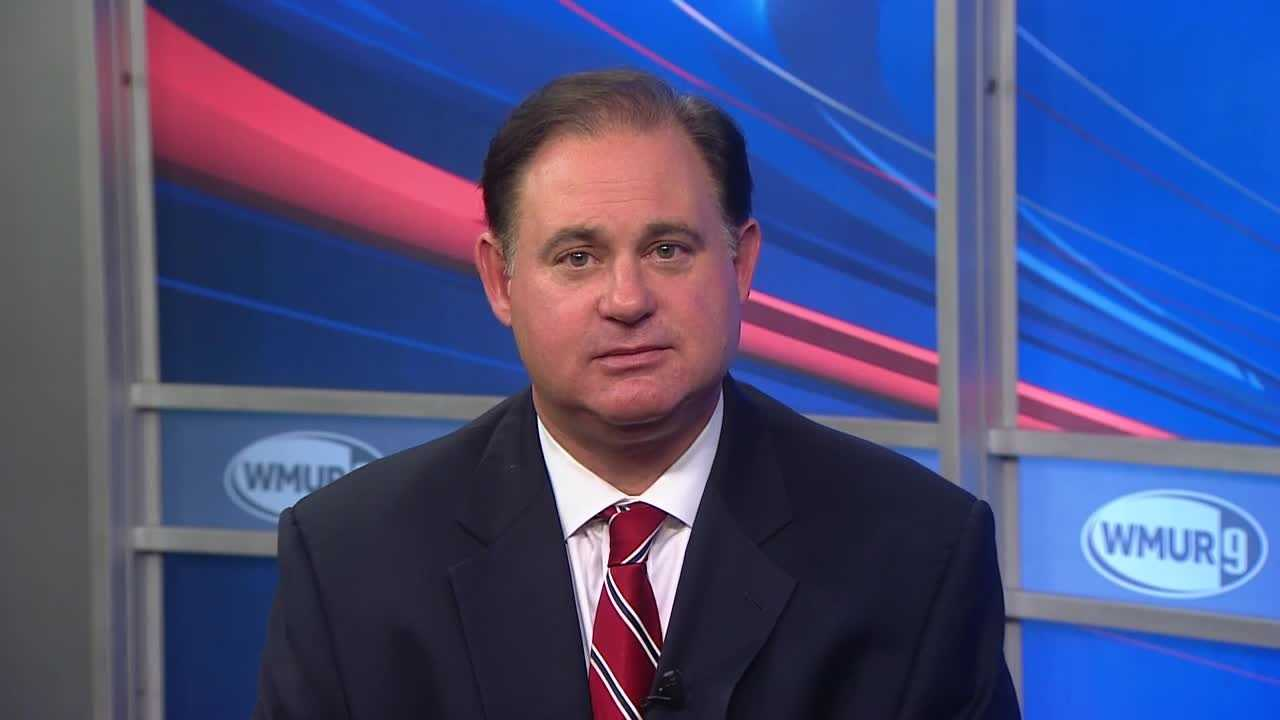 Republican Frank Guinta, candidate for a seat in New Hampshire's First  Congressional District, delivers his final pitch to voters.