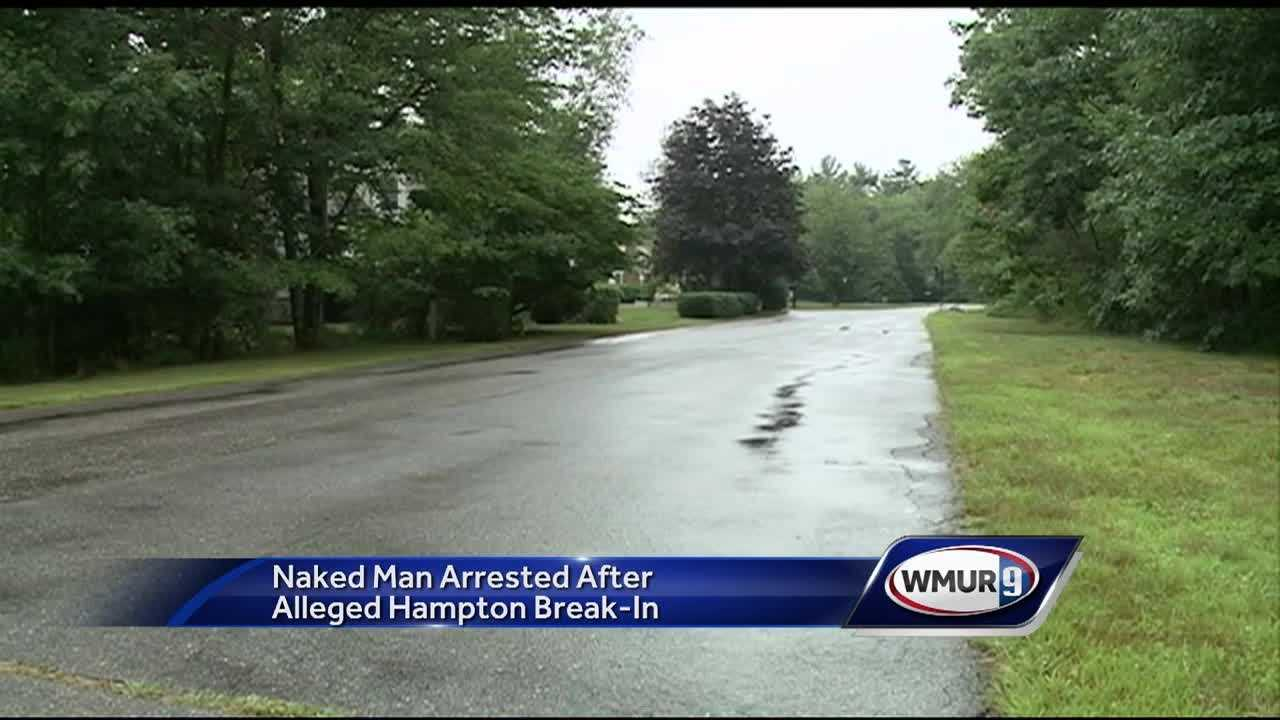 A Massachusetts man is facing charges ranging from assault to indecent exposure after he was accused of forcing his way, naked, into a Hampton home and attacking a person inside.