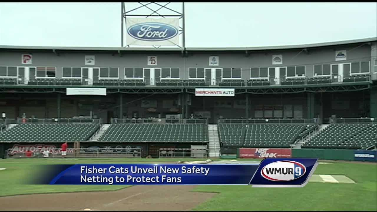 New netting has been installed at Northeast Delta Dental Stadium, and officials said it will make watching Fisher Cats games a little safer.