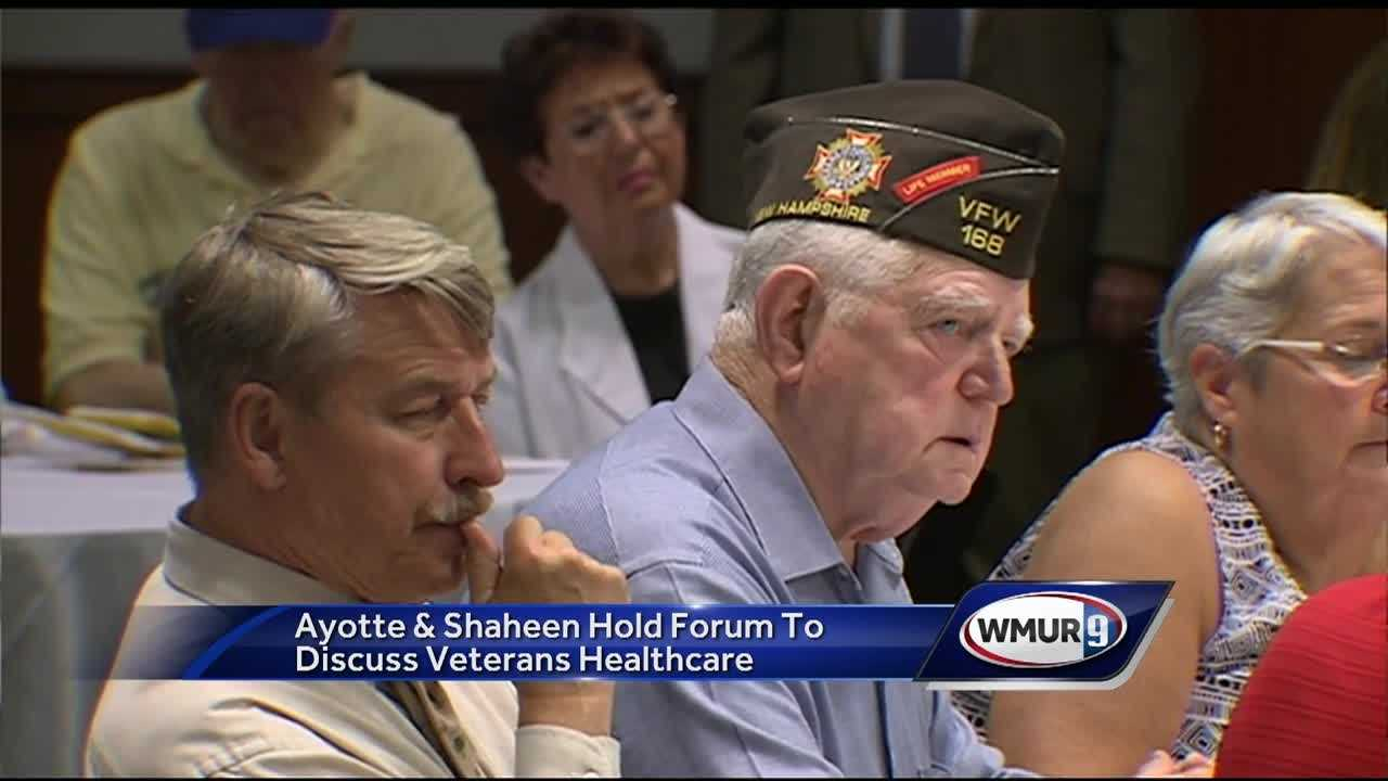 Veterans got the chance to ask Veterans Administration officials and both of New Hampshire's U.S. Senators questions about healthcare Wednesday.