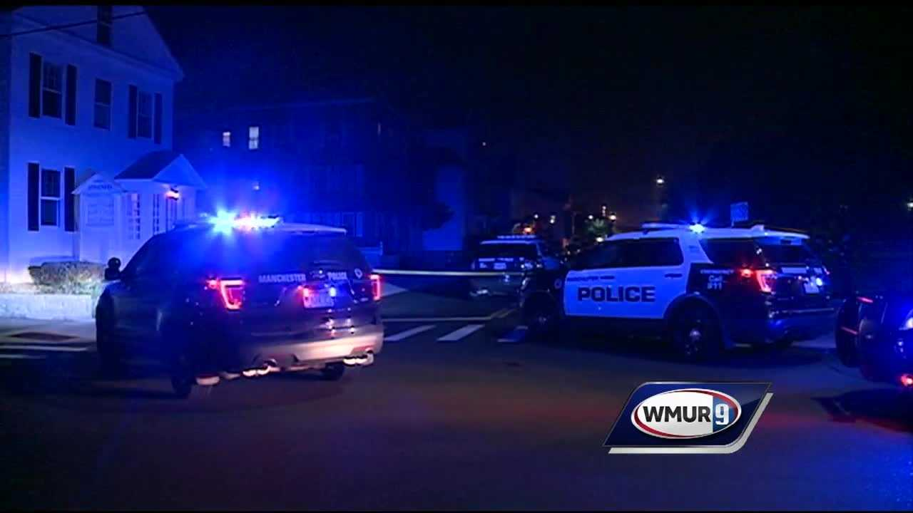 Manchester police are searching for a shooter after a man was injured overnight Wednesday on the east side of the city.