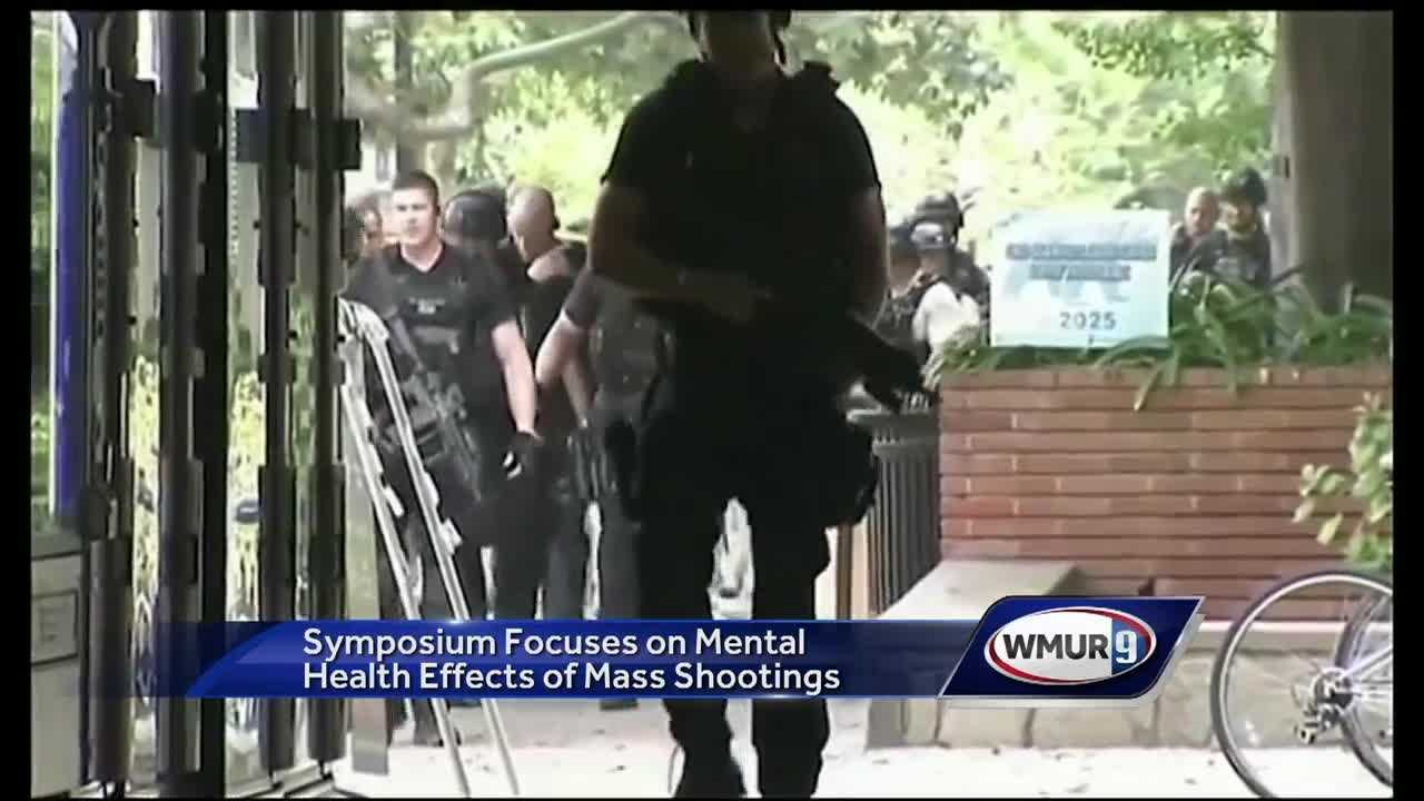 A symposium on safety on college campuses Thursday focused on mental health, from identifying issues before a shooting to helping those involved in violent incidents.