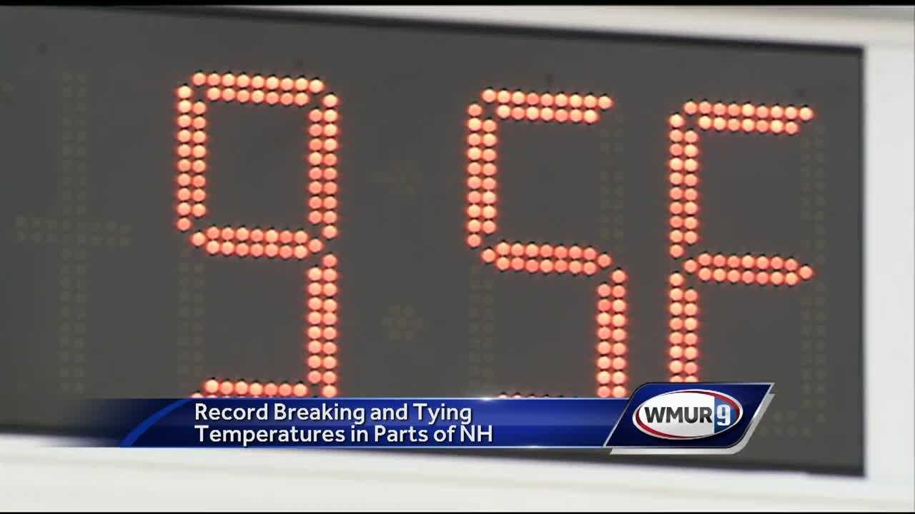 Temperatures broke records across New Hampshire today.