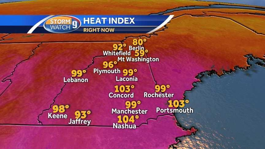 The heat index shows how hot it feels outside, based on the temperature and humidity.