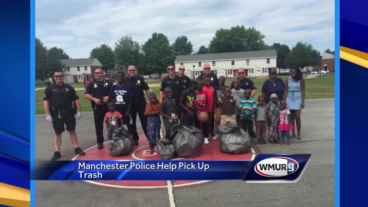 Police Chief Nick Willard joined members of his community policing division to spend a few hours picking up trash on Friday.