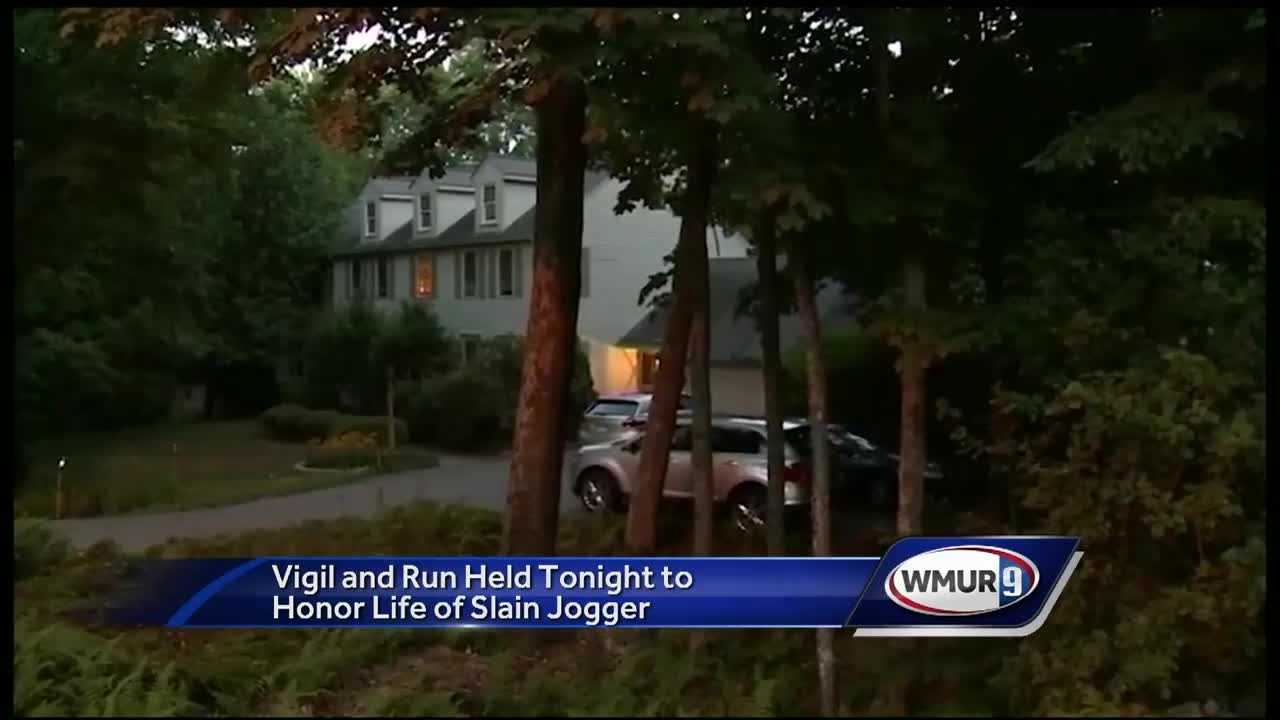 A group run to memorialize the woman who was found dead after going for a jog in Massachusetts happened Sunday night.