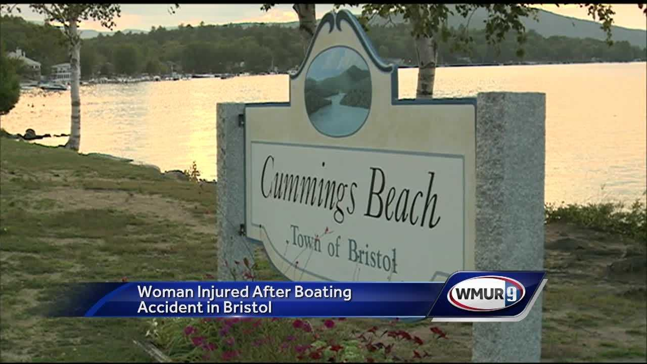 A boater was recovering Sunday night after an accident on Newfound Lake in Bristol.