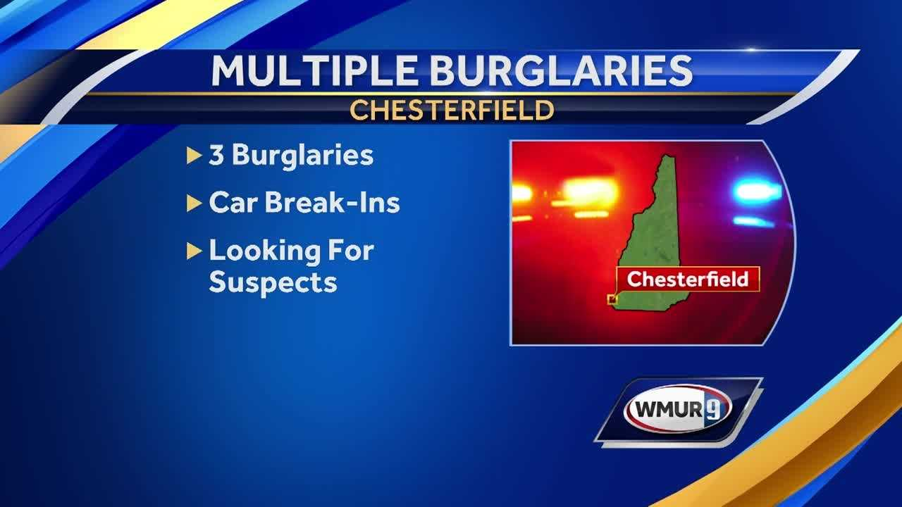 Chesterfield police are warning residents after a string of burglaries in the town.