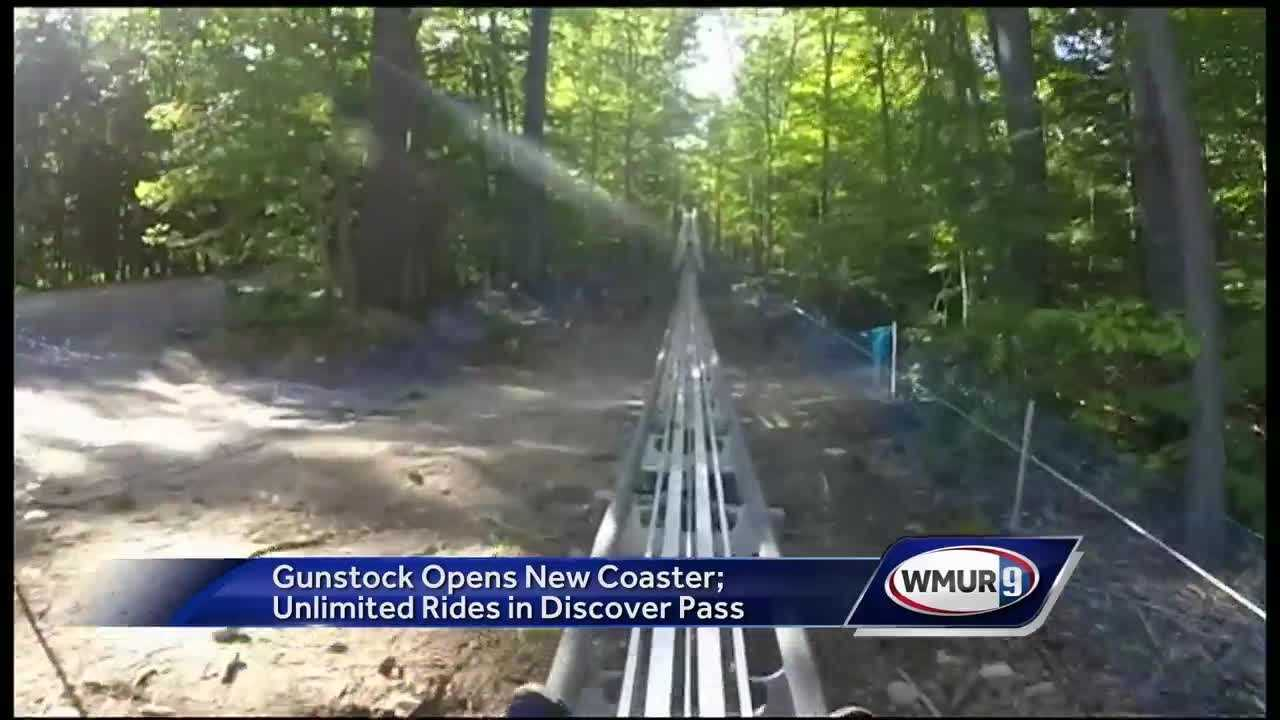 Chief Meteorologist Mike Haddad is checking out the new Mountain Coaster at Gunstock Mountain.
