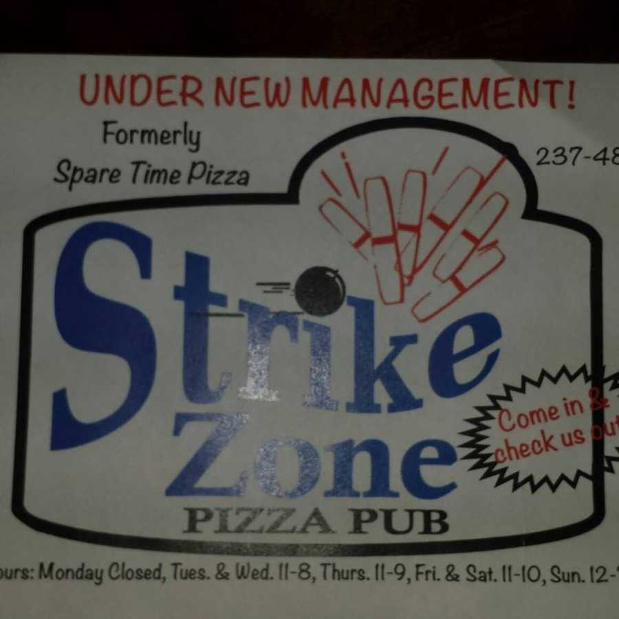 3. Strike Zone Pizza Pub in Colebrook