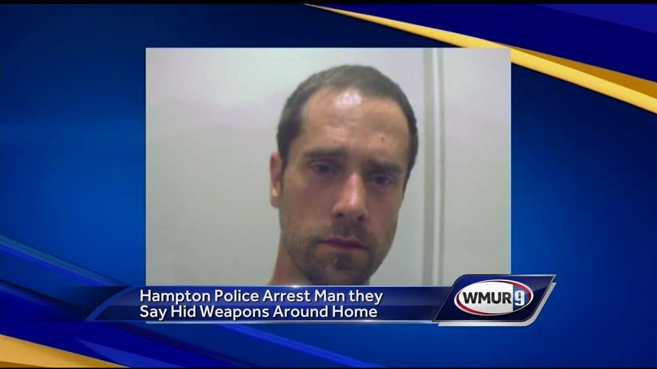 Police responding to a call about an out-of-control man in Hampton said they found knives, guns and marijuana plants in the home.